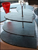 Natural Slate Cheeseboard (Heart-Shaped)